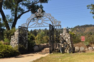 The Guardian of the River gate in Atwater Village is one of the few access points along the river. (Jim Burns)