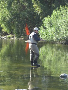 "This fly-fisherman just about set the river on fire! Maybe we should send this snap to ""Ghost Hunters."""