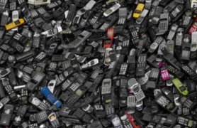 Cellphones take on a whole different identity in a landfill! (Courtesy Treehugger)