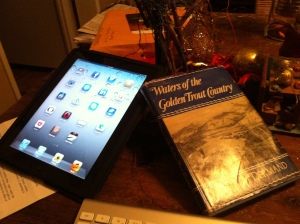 Can old books and IPads go together? (Jim Burns)