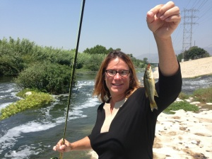Nothing like catching your first fish on a fly --  a baby bass, no less. (Mark Gangi)
