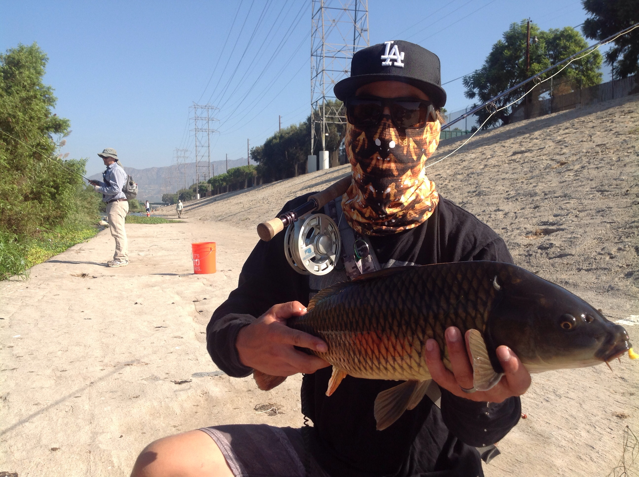 First l a river fishing derby produces carp bass smiles for Fishing in la