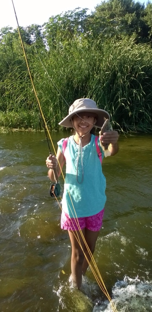 Kids' Post:  from driveway casting to catching craziness, 34 fish in one day (2/2)