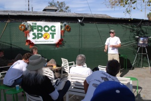 It was a thrill to get to present my favorite subject at the festive Frog Spot on Sunday. (William Preston Bowling)