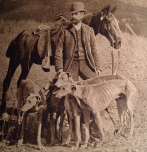 Charles Frederick Holder with the Valley Hunt hounds, circa 1906.