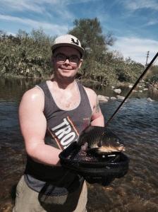 Ninety-three degress in LA, perfect for carping big fish (Jim Burns)