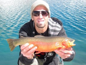Avid Eastern Sierra and SoCal troutster Johnjay Crawford is a magnet for trophy trout, and an experienced backcountry stick as well.