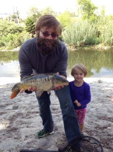 WHOA! Check out the lateral line on this beautiful, rare mirror carp Jihn Tegmeyer and friend caught. (John Tegmeyer)