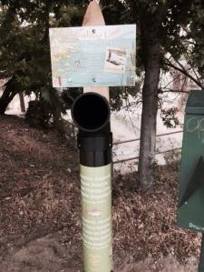 RECYCLING: FoLAR has place three tubes along the river as part of a pilot program. (Jim Burns)