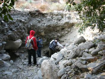 Mining hole 30 feet long x 20 feet wide x 15 feet deep.