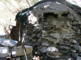 Miners' Rock and Concrete Hut.