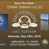 Calendar Item: Carp Throwdown returns to Lake Henshaw