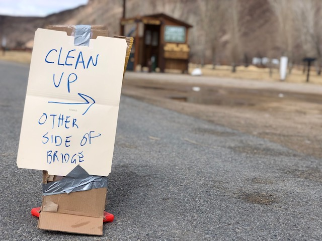 clean up signage